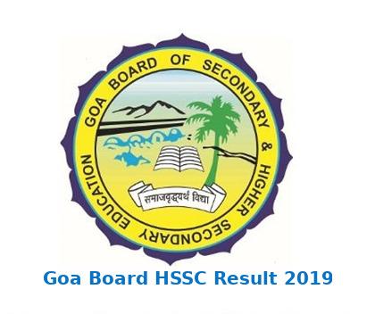 Goa Board 12th Result 2019 - HSSC Result