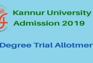 Kannur UG Trial Allotment