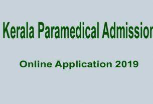 Kerala Paramedical admission 2019 lbs application