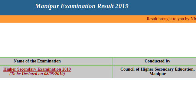 Manipur COHSEM 12th result 2019 - HSE Class 12 result