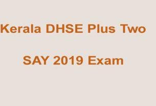 Plus Two SAY Exam 2019