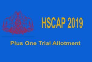 Plus One Trial Allotment 2019 - HSCAP
