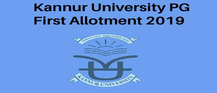 Kannut University PG First Allotment 2019 Result