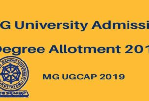 MG University Degree First Supplementary Allotment Result