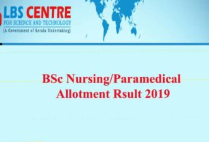 Paremedical-BSc Nursing Allotment