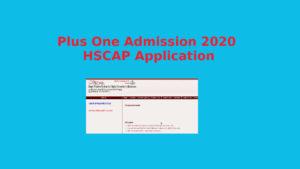 Plus One Admission 2020 Application- HSCAP Online Resistration - Ekajalakam
