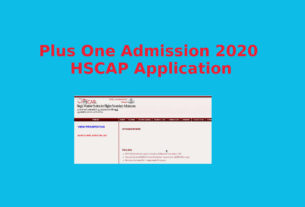 Plus One Admission 2020 Application- HSCAP Online Resistration - Ekajalakam