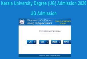 Kerala University Degree Admission 2020 Application - CAP Registration