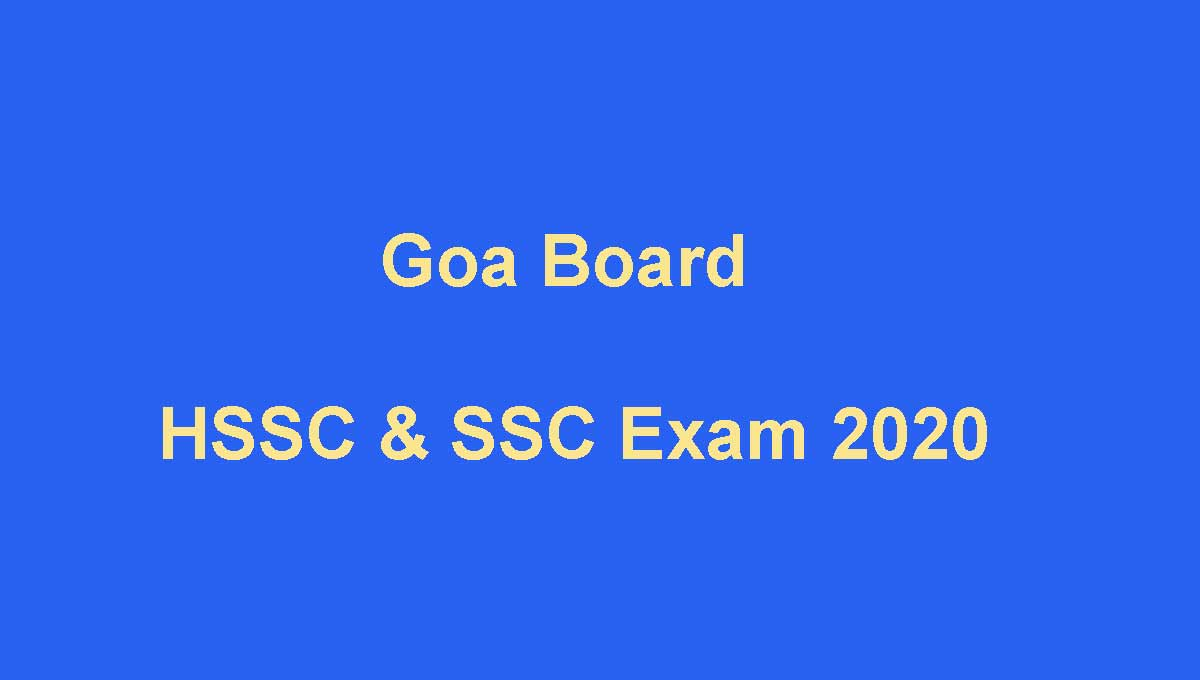 Goa Board Exam 2020