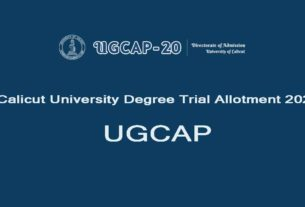 Calicut U?niversity Degree Trial Allotment 2020 - UGCAP Allotment Result