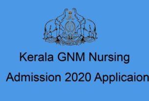 Kerala Nursing (GNM) Admission Application Form