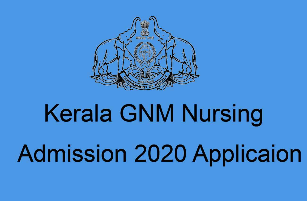 Kerala Nursing (GNM) Admission Application Form