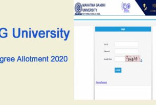MG University Degree UGCAP First Allotment 2020 - 1st Allotment