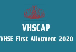 VHSE First Allotment Result 2020 - VHCAP 1st Allotment