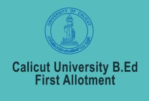 Calicut University B.Ed First Allotment