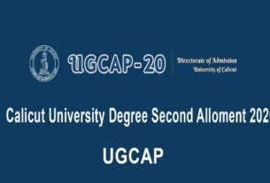 Calicut University Degree Second Allotment 2020 - UGCAP 2nd Allotment Result