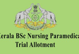 Kerala LBS BSc Nursing / Paramedical Trial Allotment List
