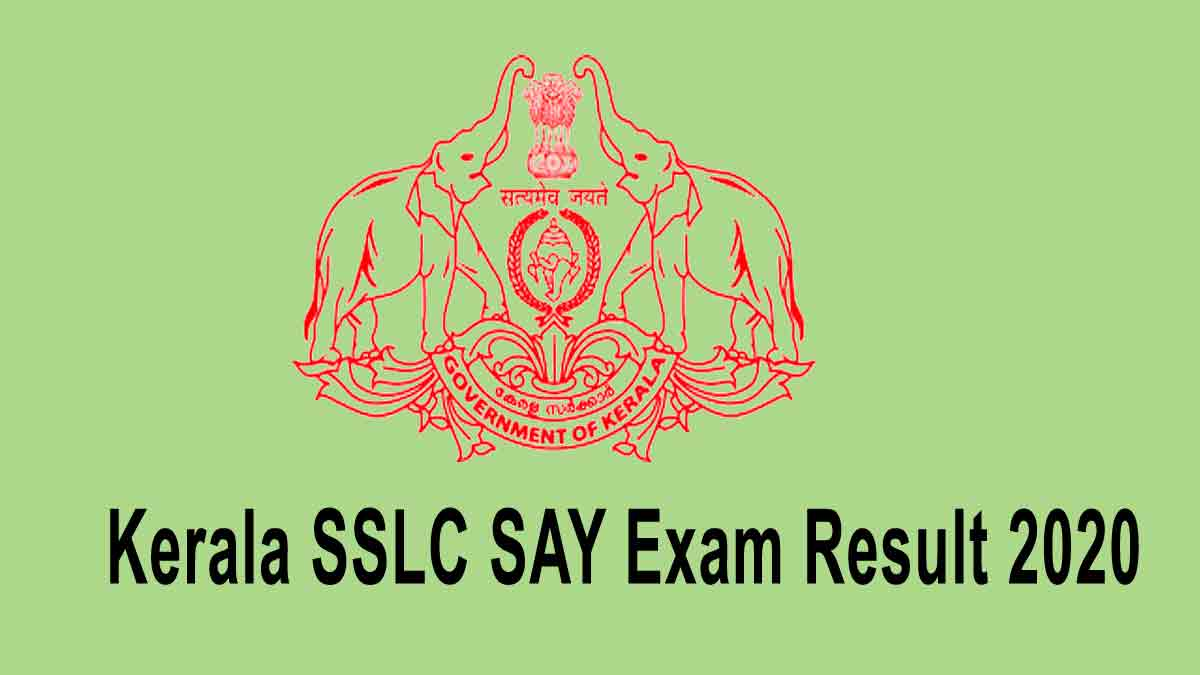 sslc say exam result