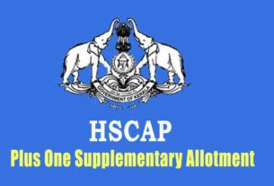 Plus One Supplementary Allotment - Check HSCAP Result