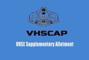 VHSE Supplementary Allotment Result - VHSCAP