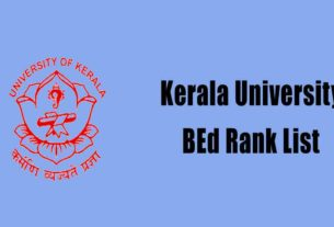Kerala University BEd Rank List