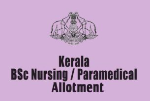 LBS Paramedical/ Bsc Nursing Third Allotment
