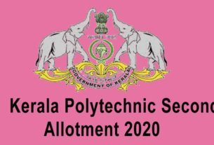 Polytechnic Second Allotment Result