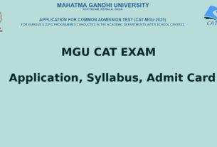 MGU CAT Exam Application, Syllabus, CAT Admit Card, Result