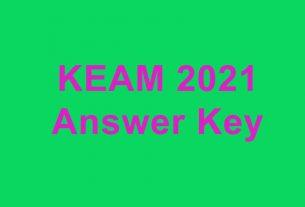 Keam Answer Key Download