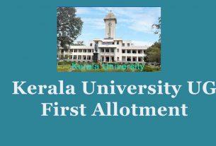 Kerala University UG First allotment - Degree 1st allotment