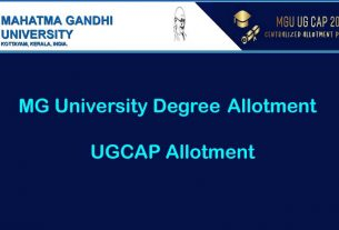 MG University Degree UGCAP Second Allotment