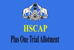 Plus One Trial Allotment - Check Allotment at www.hscap.kerala.gov.in
