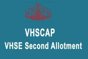 VHSE Second Allotment Result - VHSCAP